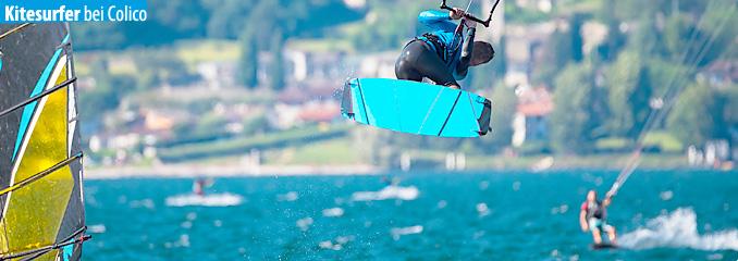 Kitesurfen am Comer See
