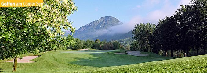 Golf spielen am Comer See