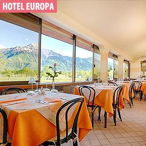 Das Bild zeigt das Hotel Europa in Sorico, Comer See.